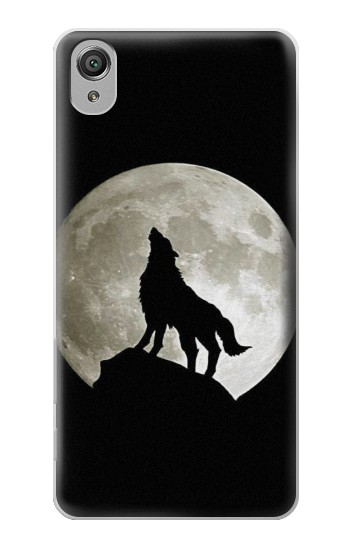 Printed Wolf Howling at The Moon Sony Xperia X Case