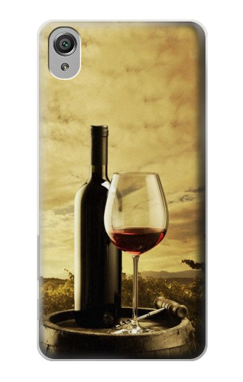 Printed A Grape Vineyard Grapes Bottle and Glass of Red Wine Sony Xperia X Case