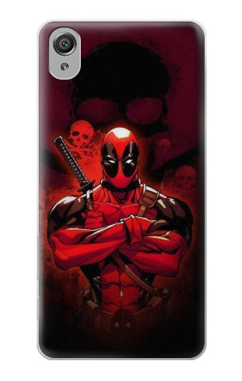 Printed Deadpool Skull Sony Xperia X Case
