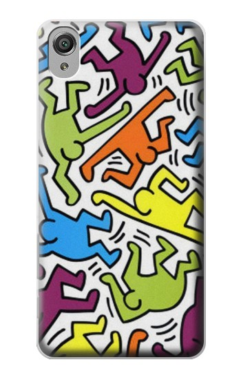 Printed Keith Haring Sony Xperia X Case