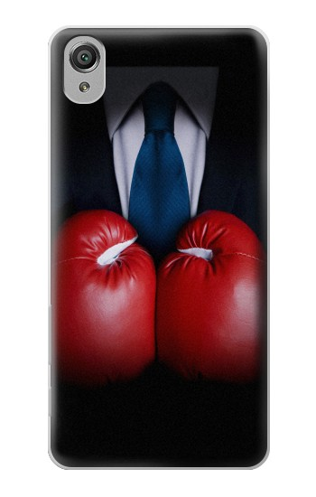 Printed Businessman In Black Suit With Boxing Gloves Sony Xperia X Case