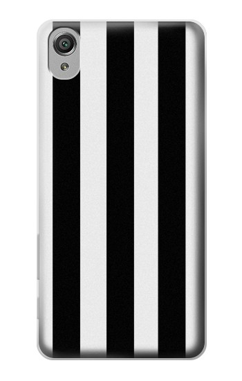 Printed Black and White Vertical Stripes Sony Xperia X Case