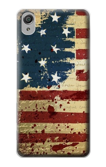 Printed Old American Flag Sony Xperia X Case