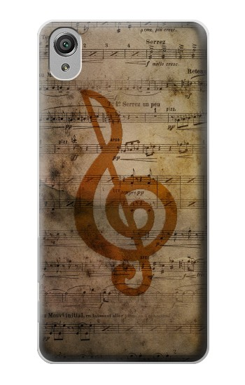 Printed Sheet Music Notes Sony Xperia X Case