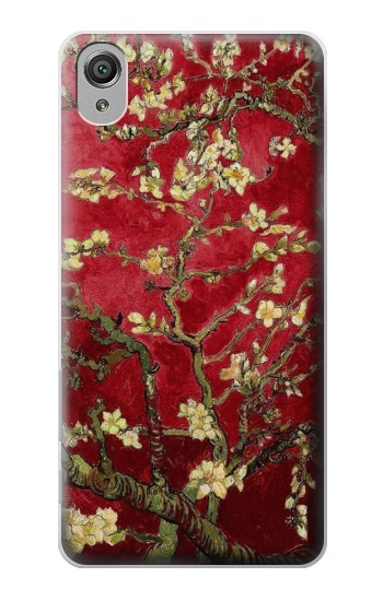 Printed Red Blossoming Almond Tree Van Gogh Sony Xperia X Case