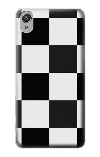 Printed Black and White Checkerboard Sony Xperia X Case