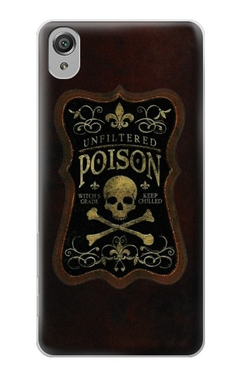 Printed Unfiltered Poison Vintage Glass Bottle Sony Xperia X Case