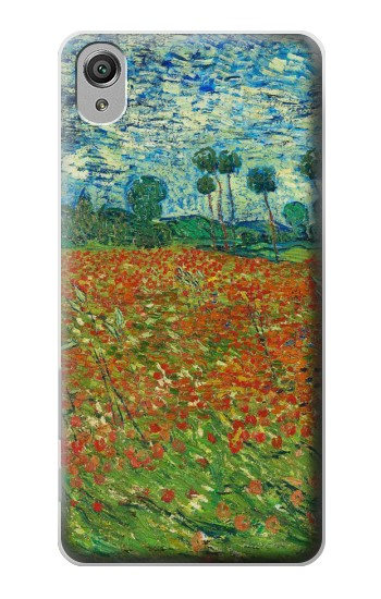 Printed Field Of Poppies Vincent Van Gogh Sony Xperia X Case