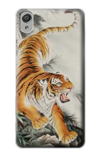 Printed Chinese Tiger Tattoo Painting Sony Xperia X Case