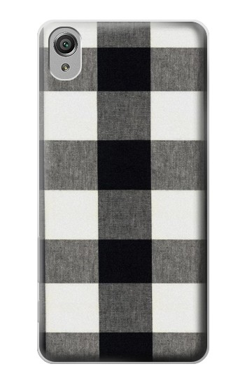 Printed Black and White Buffalo Check Pattern Sony Xperia X Case