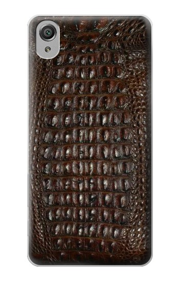 Printed Brown Skin Alligator Graphic Printed Sony Xperia X Case