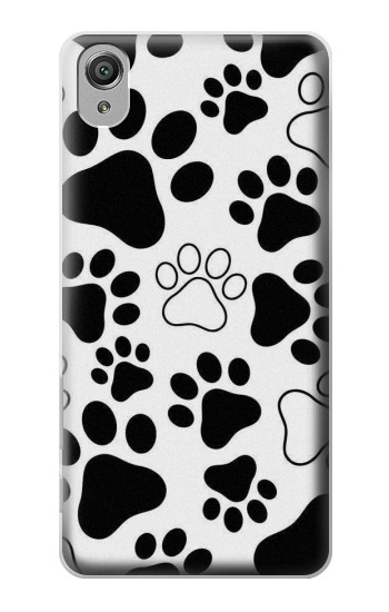 Printed Dog Paw Prints Sony Xperia X Case