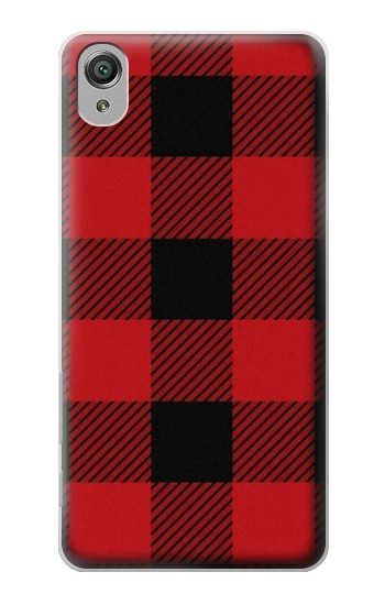Printed Red Buffalo Check Pattern Sony Xperia X Case