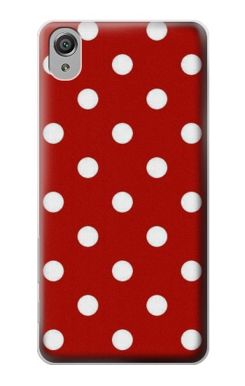 Printed Red Polka Dots Sony Xperia X Case