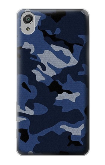 Printed Navy Blue Camouflage Sony Xperia X Case