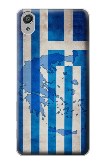 Printed Greece Map Flag Sony Xperia X Case