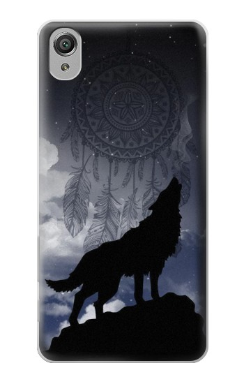 Printed Dream Catcher Wolf Howling Sony Xperia X Case