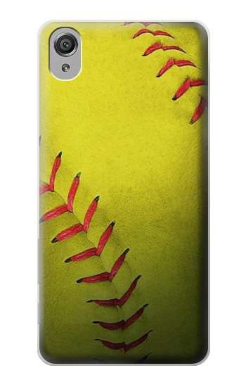 Printed Yellow Softball Ball Sony Xperia X Case
