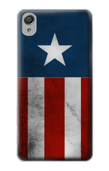 Printed Captain Star Flag of America Sony Xperia X Case