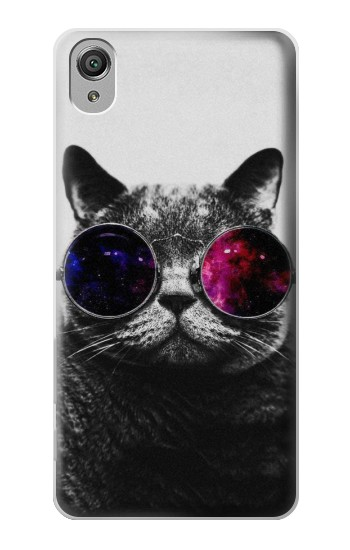 Printed Cool Cat Glasses Sony Xperia X Case