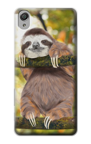 Printed Cute Baby Sloth Paint Sony Xperia X Case