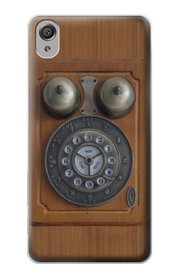 Printed Antique Wall Phone Sony Xperia X Case