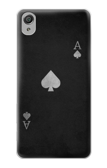 Printed Black Ace of Spade Sony Xperia X Case