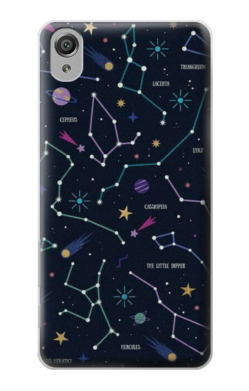 Printed Star Map Zodiac Constellations Sony Xperia X Case