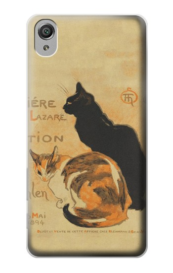 Printed Vintage Cat Poster Sony Xperia X Case