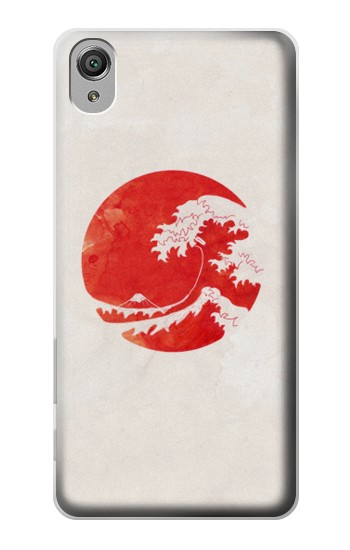 Printed Waves Japan Flag Sony Xperia X Case