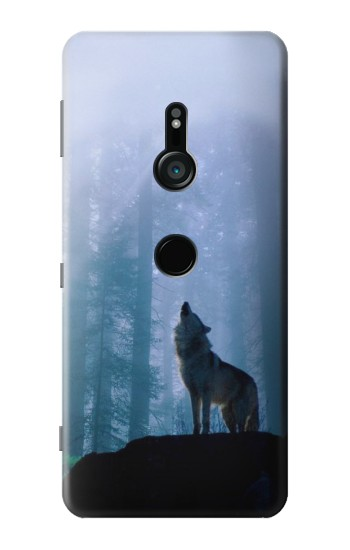Printed Wolf Howling in Forest Sony Xperia XZ3 Case