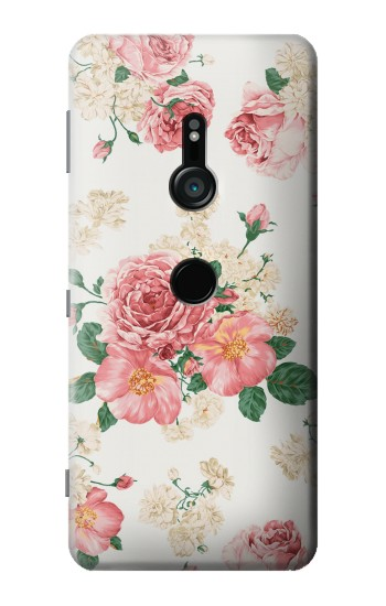 Printed Rose Pattern Sony Xperia XZ3 Case