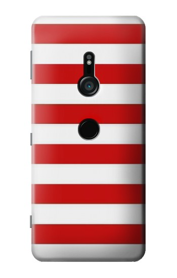 Printed Red and White Striped Sony Xperia XZ3 Case