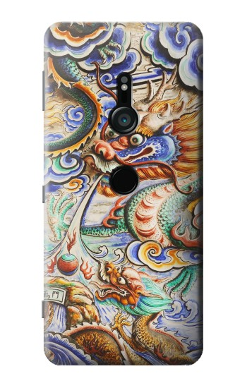 Printed Traditional Chinese Dragon Art Sony Xperia XZ3 Case