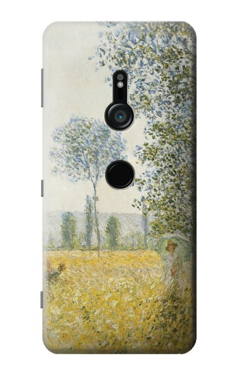 Printed Claude Monet Fields In Spring Sony Xperia XZ3 Case