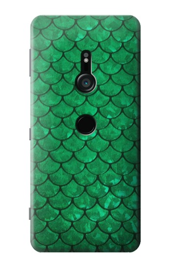 Printed Green Fish Scale Pattern Sony Xperia XZ3 Case