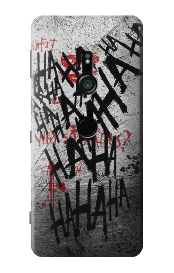 Printed Joker Hahaha Blood Splash Sony Xperia XZ3 Case