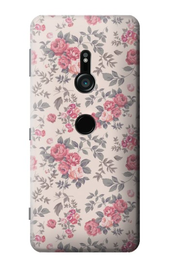 Printed Vintage Rose Pattern Sony Xperia XZ3 Case