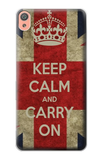 Printed Keep Calm and Carry On Sony Xperia XA Case