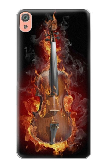 Printed Fire Violin Sony Xperia XA Case