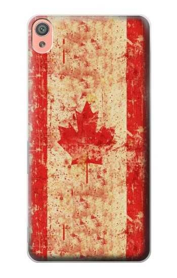 Printed Canada Flag Old Vintage Sony Xperia XA Case