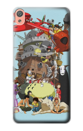 Printed Totoro Mononoke and Friends Sony Xperia XA Case