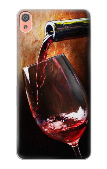 Printed Red Wine Bottle And Glass Sony Xperia XA Case