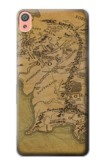 Printed The Lord Of The Rings Middle Earth Map Sony Xperia XA Case