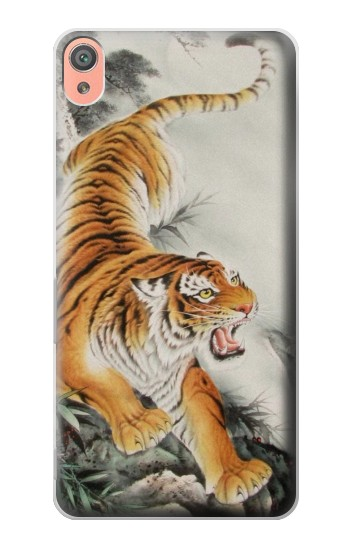 Printed Chinese Tiger Tattoo Painting Sony Xperia XA Case