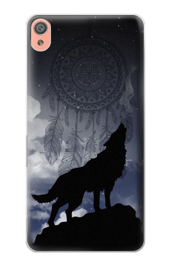 Printed Dream Catcher Wolf Howling Sony Xperia XA Case