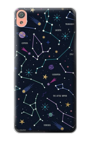 Printed Star Map Zodiac Constellations Sony Xperia XA Case