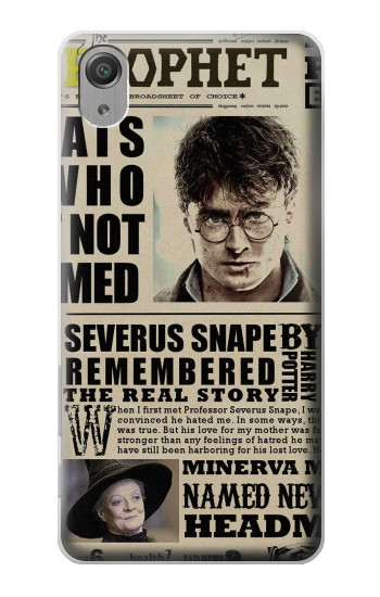 Printed Harry Potter Daily Prophet Sony Xperia X Performance Case