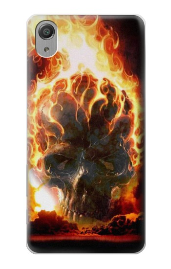 Printed Hell Fire Skull Sony Xperia X Performance Case