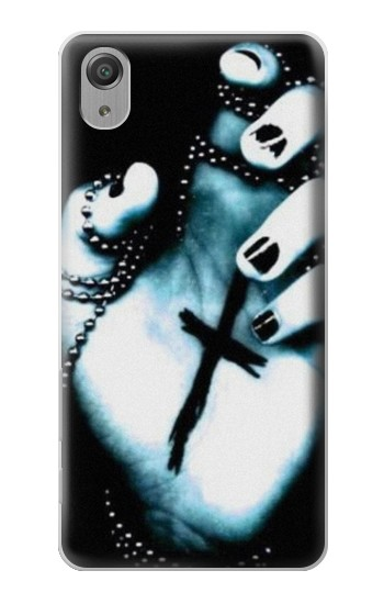 Printed Dark Gothic Cross Hand Sony Xperia X Performance Case